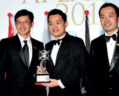 Winner of Asia Pacific Entrepreneurship Awards 2011, Outstanding Entrepreneur