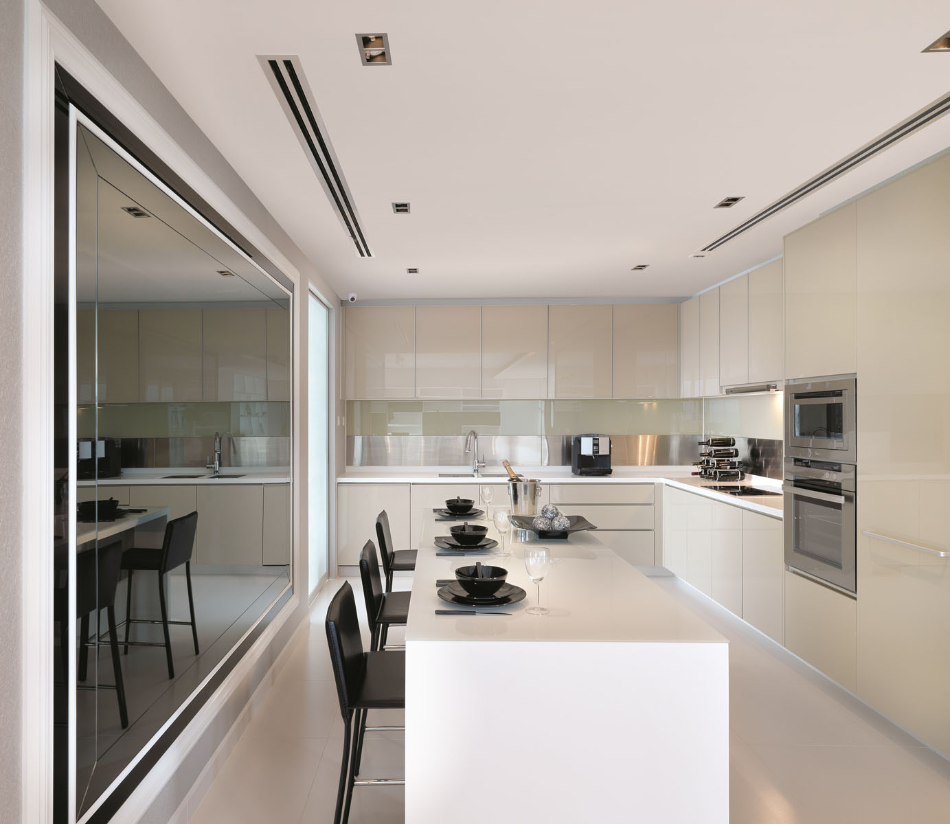 Open kitchen and dining design ideas